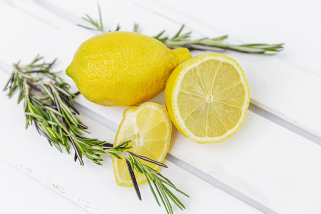rosemary and lemon